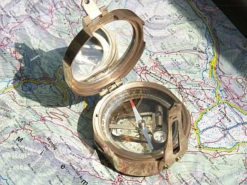 Kompas żeglarski, dawny kompas, kompas na prezent, mosiężny kompas