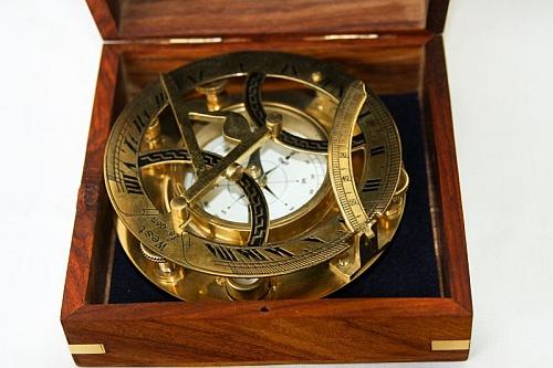 Zegar Dollonda - Zegar Słoneczny z Kompasem w pudełku